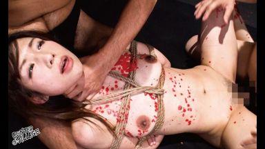<30歳>「ふぎぃっ!死ぬひにゅうっ!いぐゥッ!」緊縛調教されるドマゾ人妻!ムチ責め胡座縛り蝋燭責めからの膣奥中出し遊戯のthumbnail