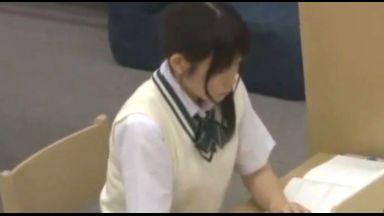 【声我慢レイプ】真面目優等生なウブ制服美少女が静寂図書館で欲望を満たすためだけに狙われていることをまだ知らない…のthumbnail
